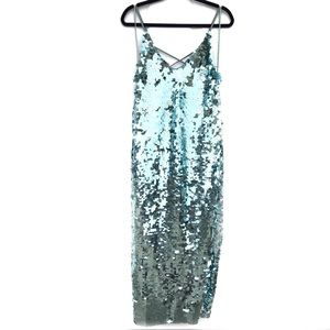 Free People Sequin Side Slit Gown